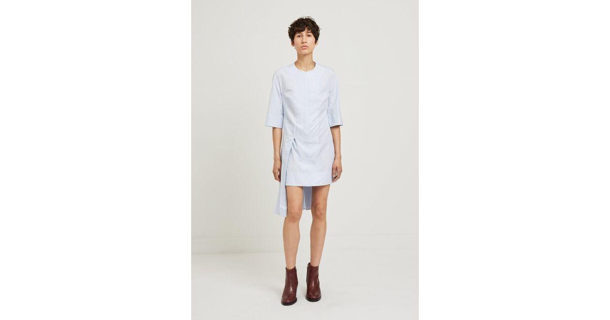Blue and White Striped Hyphen Dress ECKHAUS LATTA vDIqtnb8