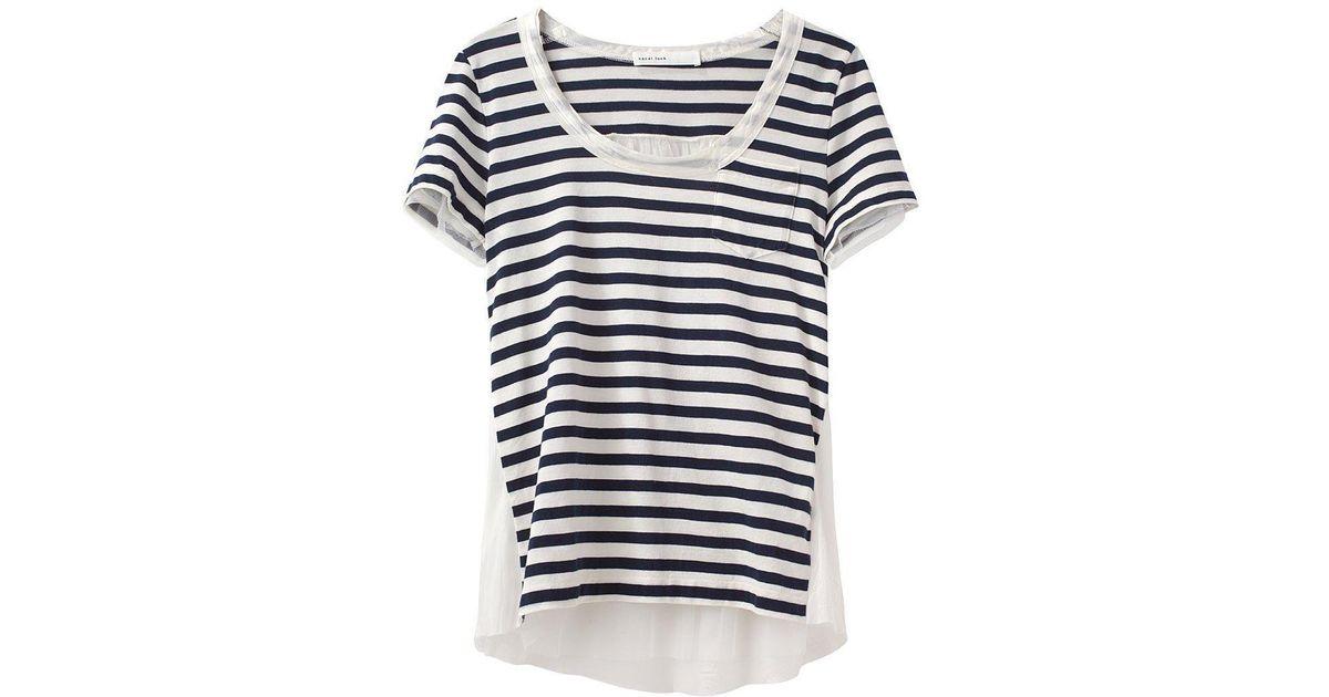 545d0840ae2 Lyst - Sacai Luck Striped Short Sleeve Tee