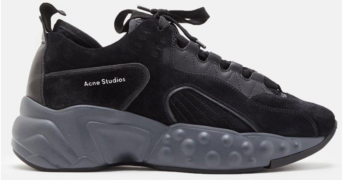 Lyst Acne Manhattan Sneakers In Black Smooth Calfskin In