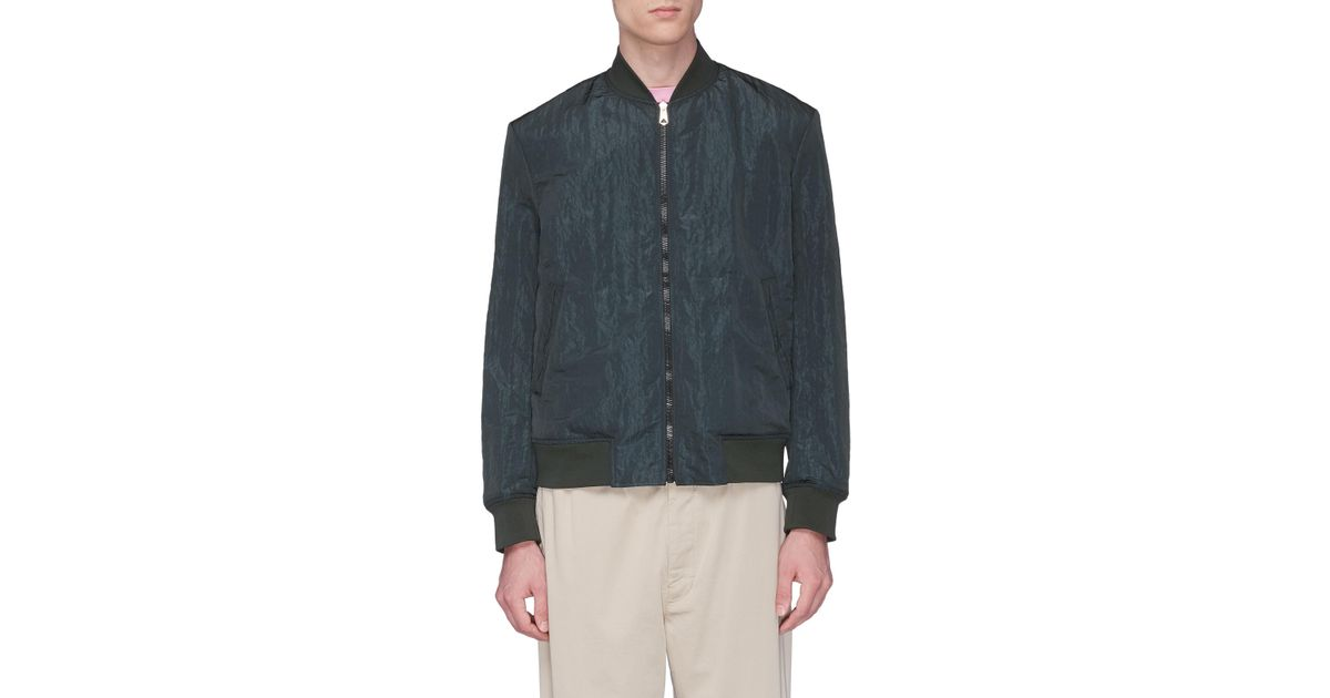 ccd3f6e7423d8 Paul Smith Reversible Bomber Jacket in Blue for Men - Lyst