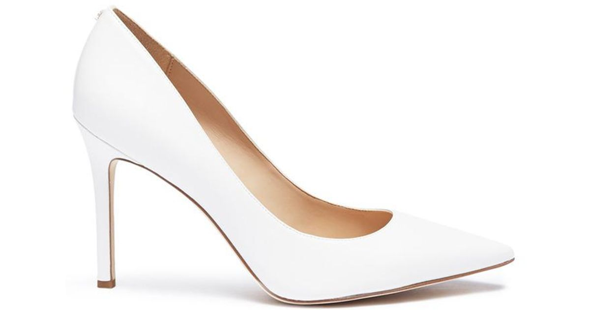fadb33fba Lyst - Sam Edelman  hazel  Leather Pumps in White