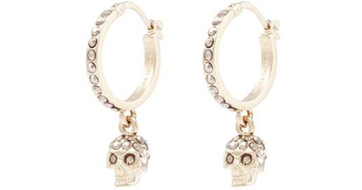 Alexander McQueen Skull Swarovski earrings IP4CIp