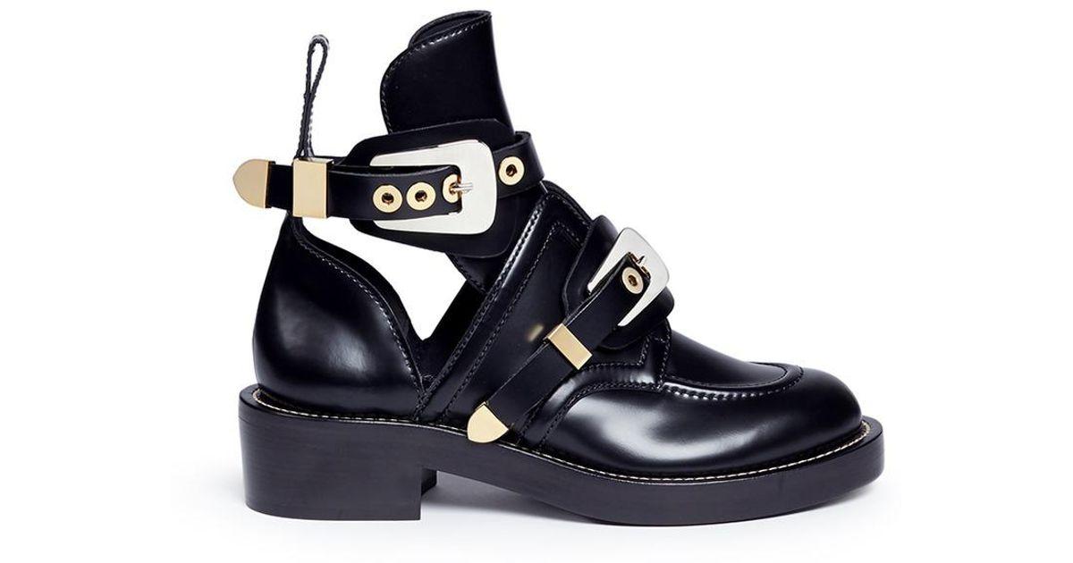 Lyst - Balenciaga Women s Ceinture Ankle Boots in Blue - Save 40% 0c3e2b9159fa