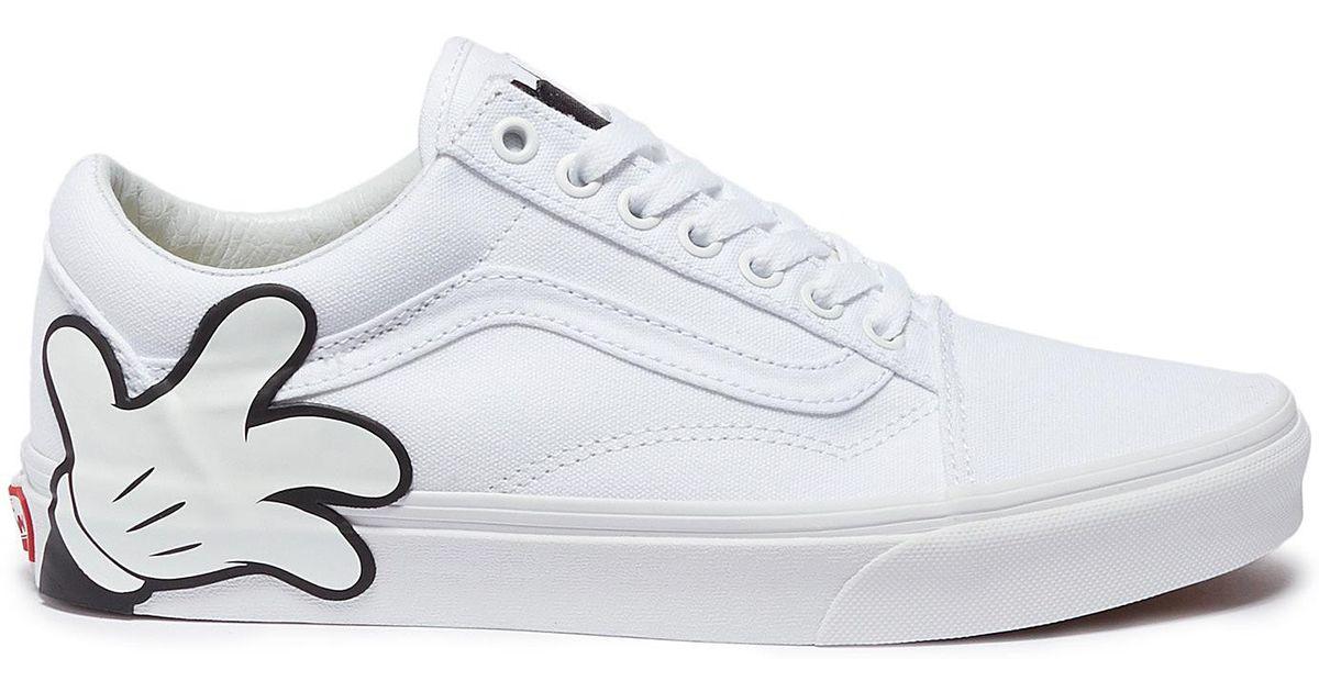 4be3818b666 Vans X Disney  old Skool  Mickey Mouse Canvas Sneakers in White - Lyst