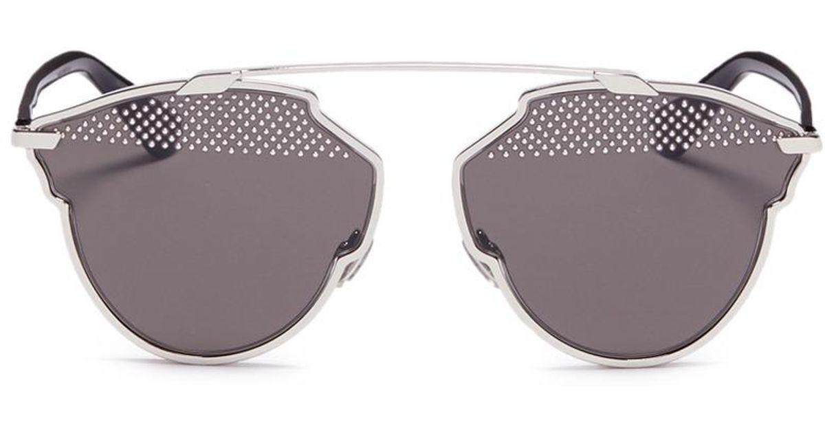 f82433e06539 Lyst - Dior   So Real S  Stud Lens Panto Sunglasses