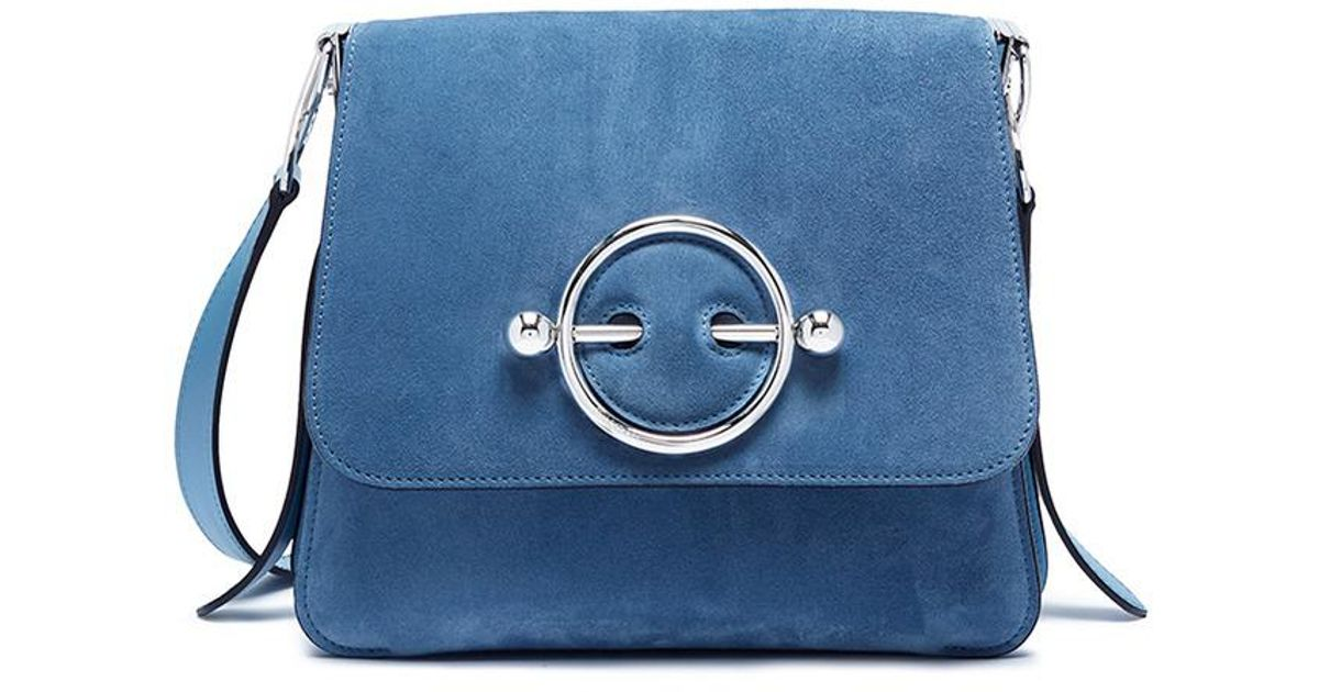 Disc Bag in Bluebird Suede and Calf Leather J.W.Anderson QsdCp