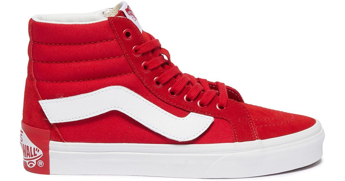 Lyst - Vans X Purlicue  sk8-hi Reissue  Canvas Sneakers in Red f5be642da8