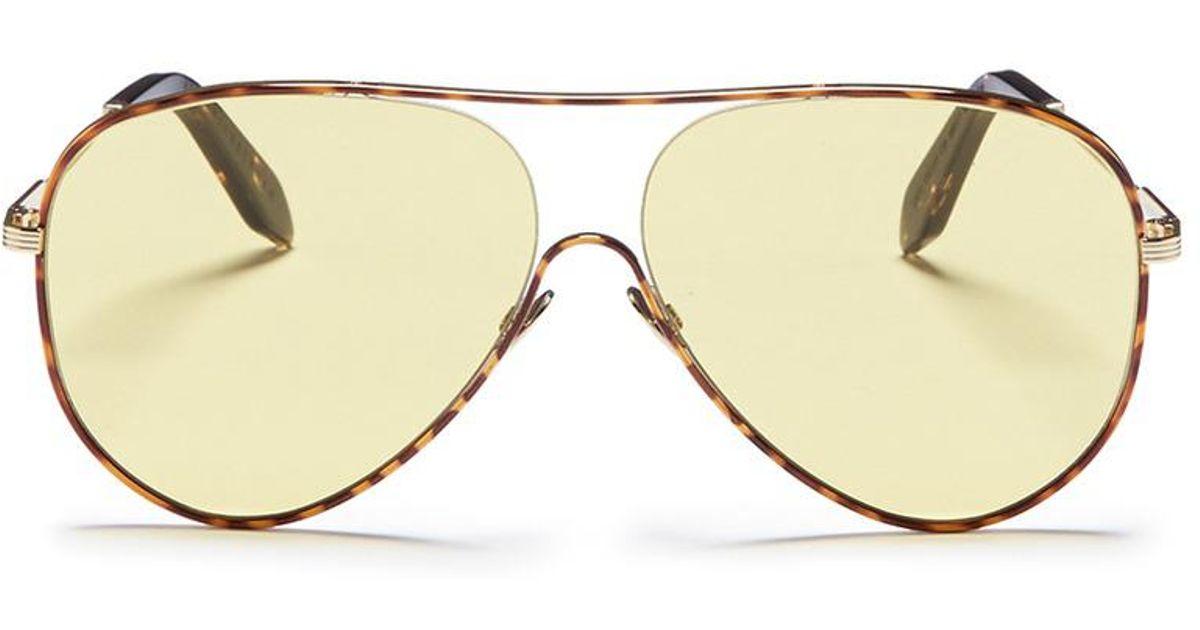 Tortoiseshell Loop Aviator Sunglasses Victoria Beckham PpVhSLSkxk