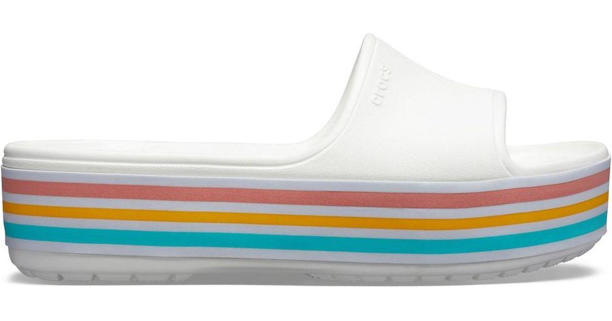 Crocs™ Color Lyst Bld Platform White Mules Slide OvmNn0wPy8