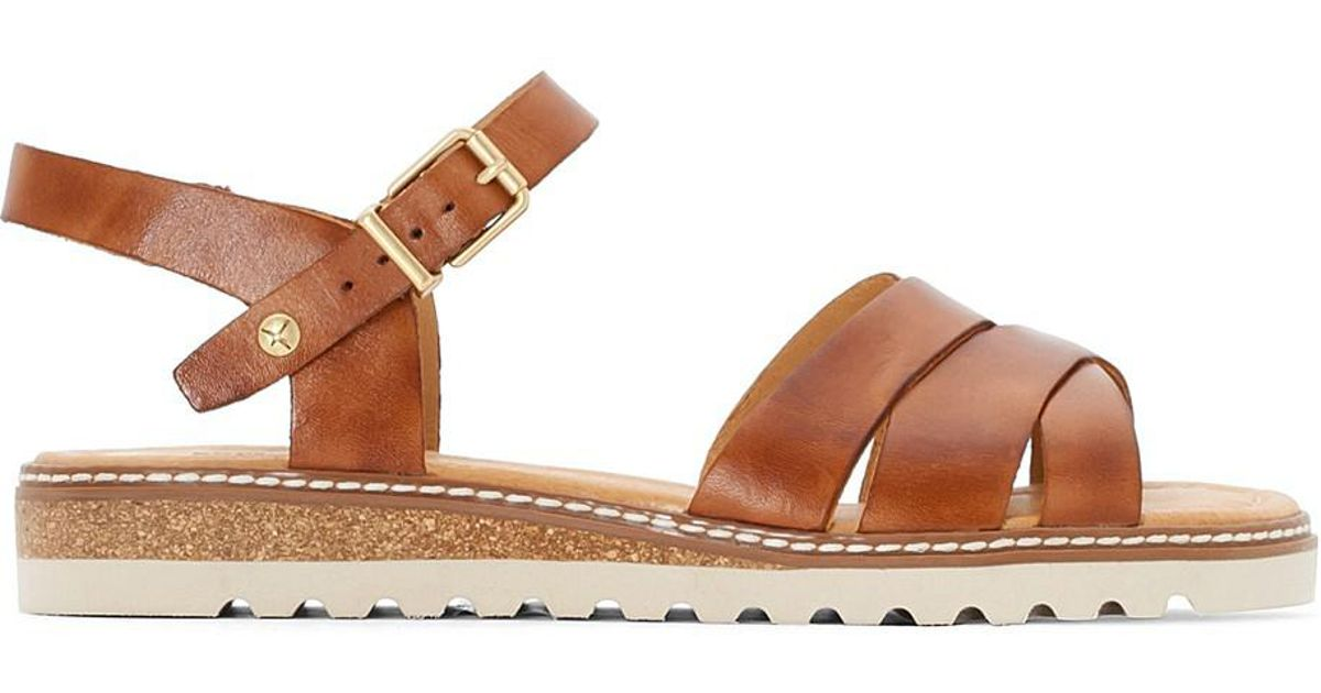b3125af81a2 Lyst - Pikolinos Alcudia W1l Leather Sandals in Brown