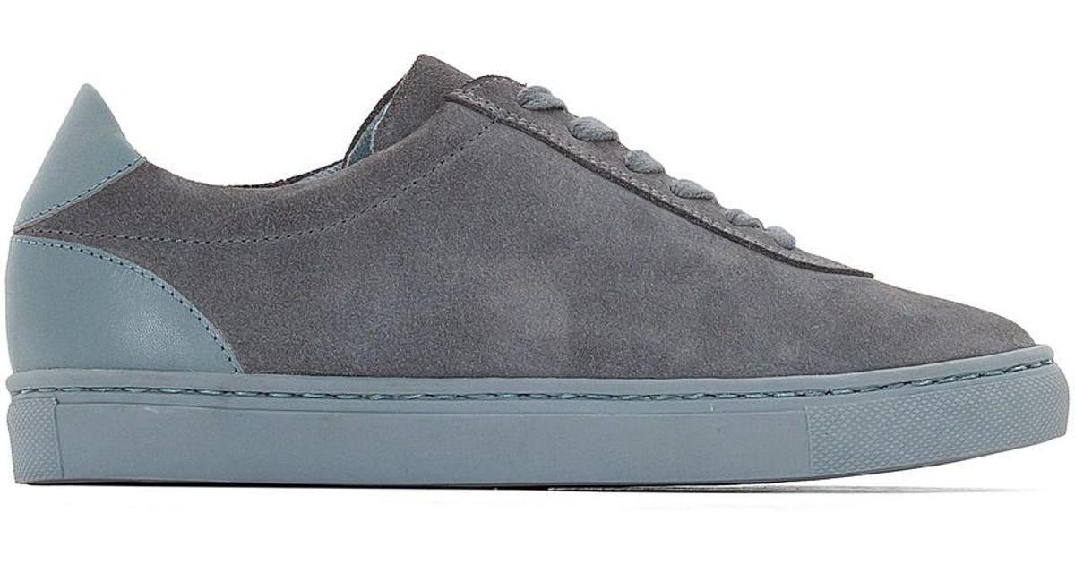 cb4e0a9f602b8 LA REDOUTE - Gray Dual Leather Trainers for Men - Lyst