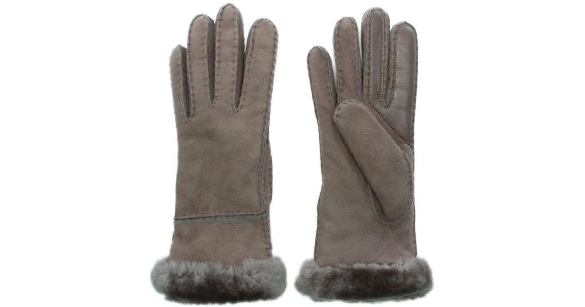 01183258309 Ugg - Gray Women's Exposed Slim Tech Stormy Grey Gloves - Lyst