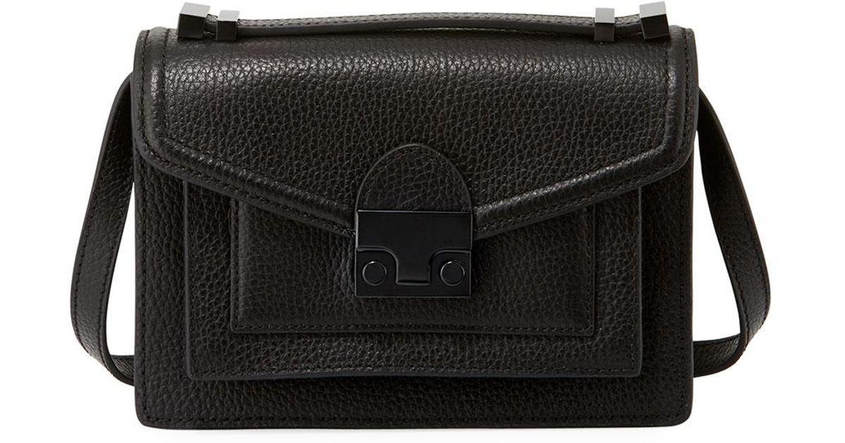 3e1bbea345ad Lyst - Loeffler Randall Tumbled Leather Crossbody Bag in Black