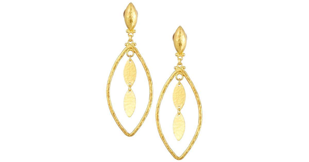 Gurhan Willow 24k Medium Diamond Dangle Earrings 9pzeJ3