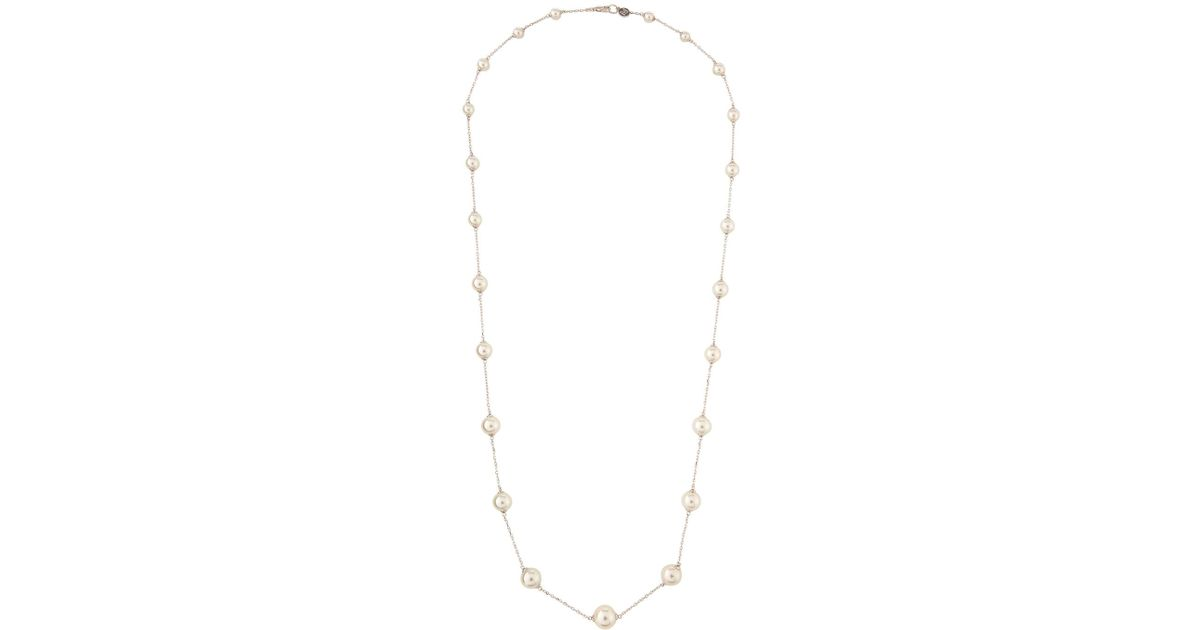 Majorica Long Graduating Illusion White Pearl Necklace V9iNsjhgZ0