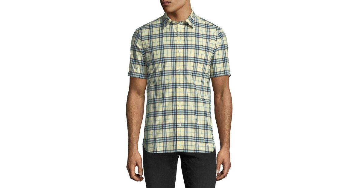 9602202c669f Lyst - Burberry Alexander Check Short-sleeve Sport Shirt for Men