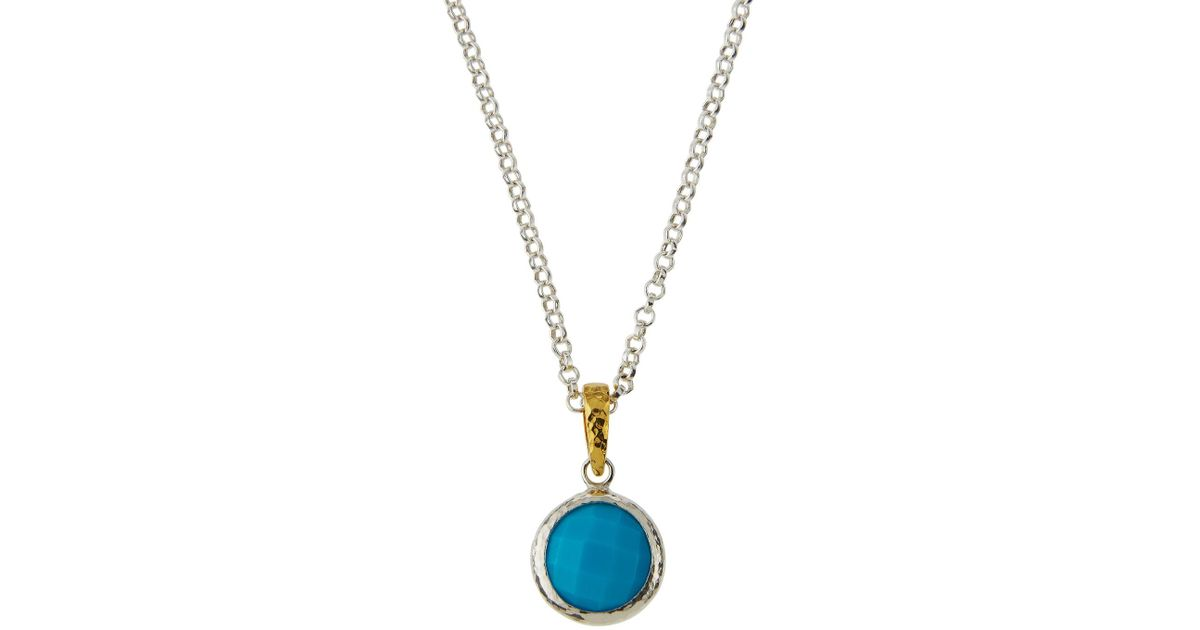 Gurhan Galapagos Round Turquoise Pendant Necklace 9YRozC6D6