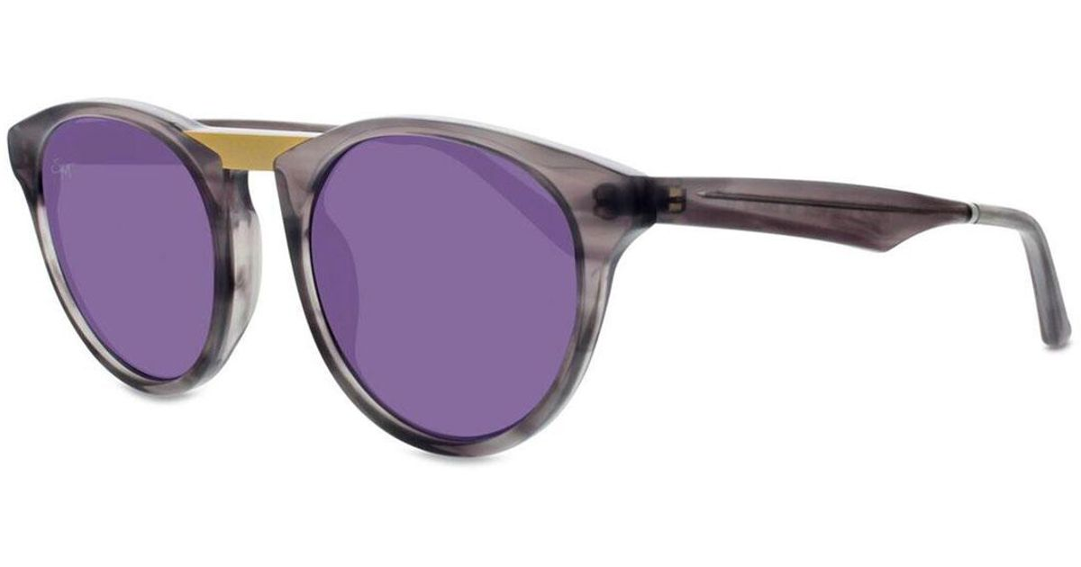 6f753d623b Lyst - Smoke X Mirrors Black Betty Round Acetate And Stainless Steel  Sunglasses in Gray