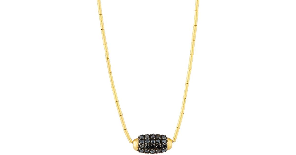 Gurhan Single Black Diamond Cocoon Necklace cxZXrPx