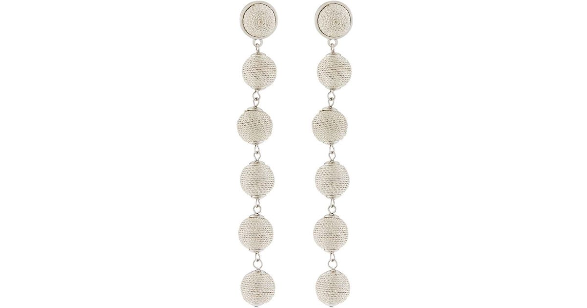 Lydell Nyc Thread-Wrapped Sphere Dangle Earrings 41Q6iQCpVm