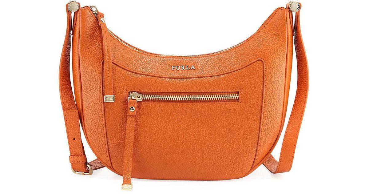d95c0b5219 Lyst - Furla Ginevra Leather Crossbody Bag