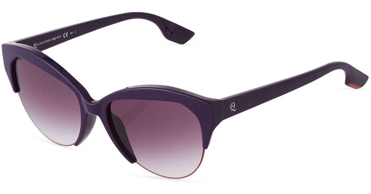Mcq Modified Cat Eye Sunglasses