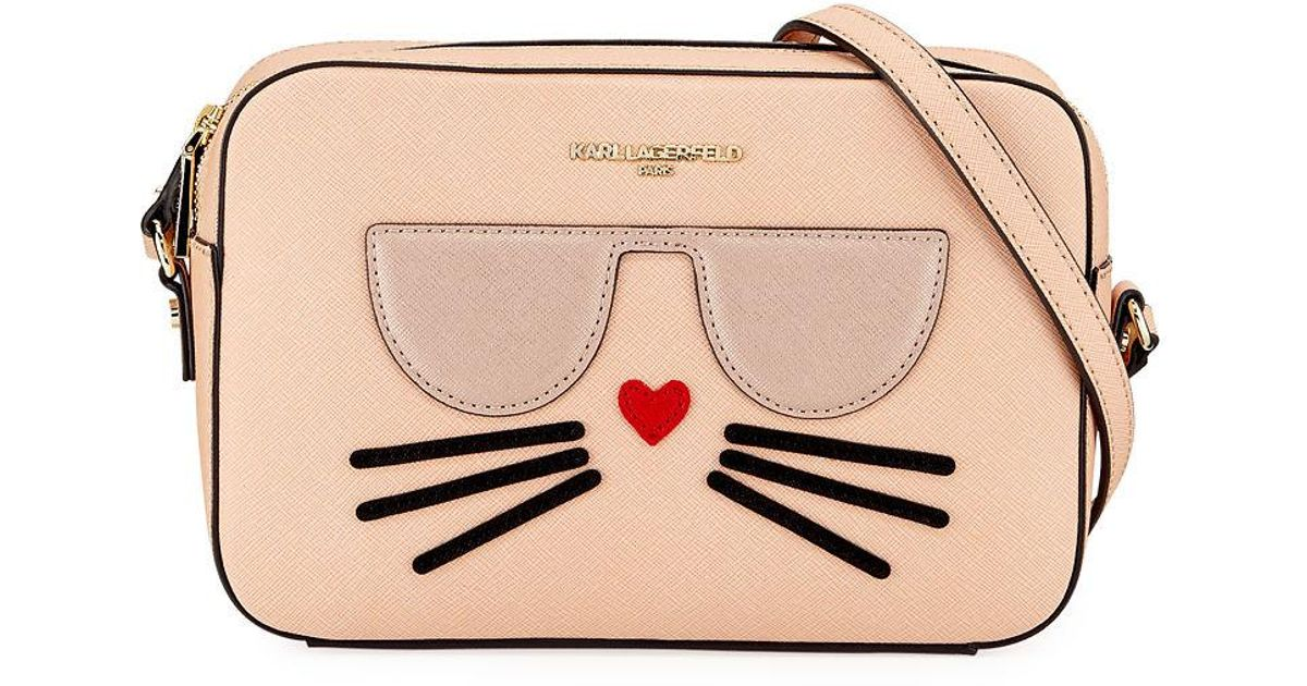 Lyst Karl Lagerfeld Maybelle Saffiano Leather Crossbody Bag With