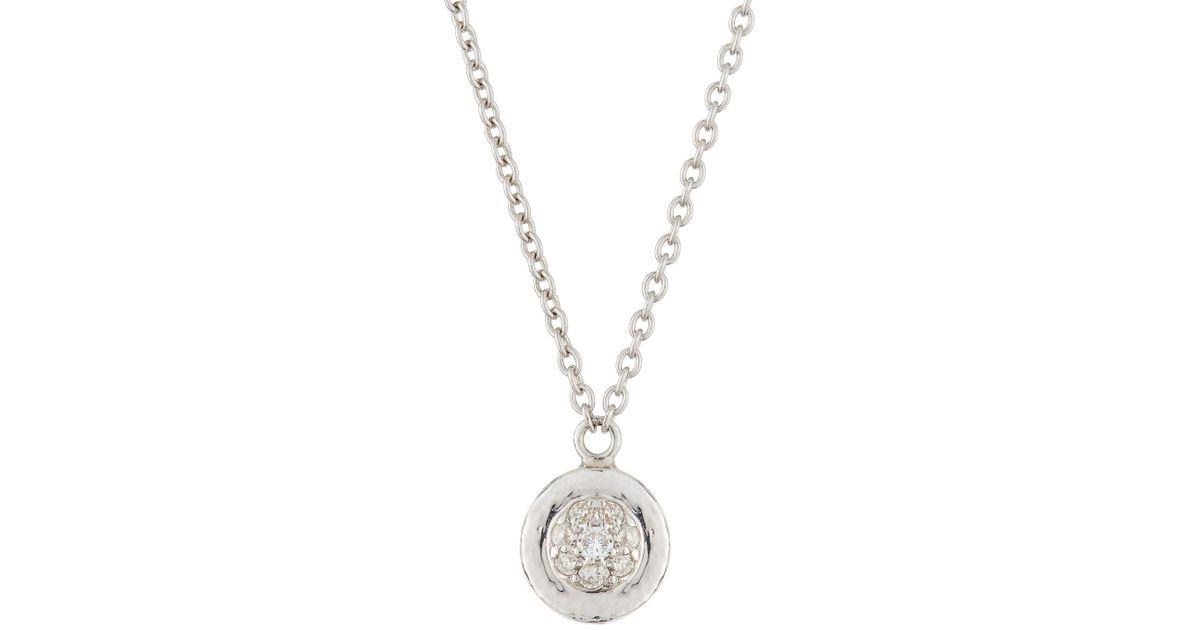 Lyst gurhan delicate small diamond pendant necklace in metallic aloadofball Images