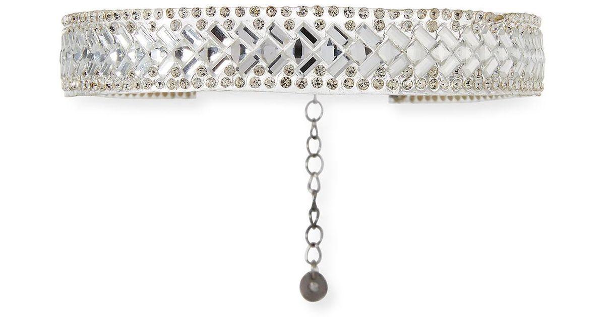 Lydell Nyc Thin Crystal Choker Necklace xa0r7e