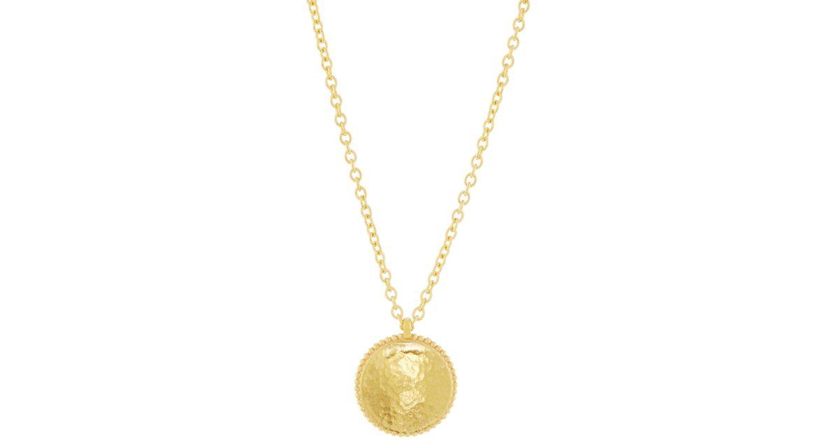 Gurhan Monarch 22k Disc Pendant Necklace 39GVnK