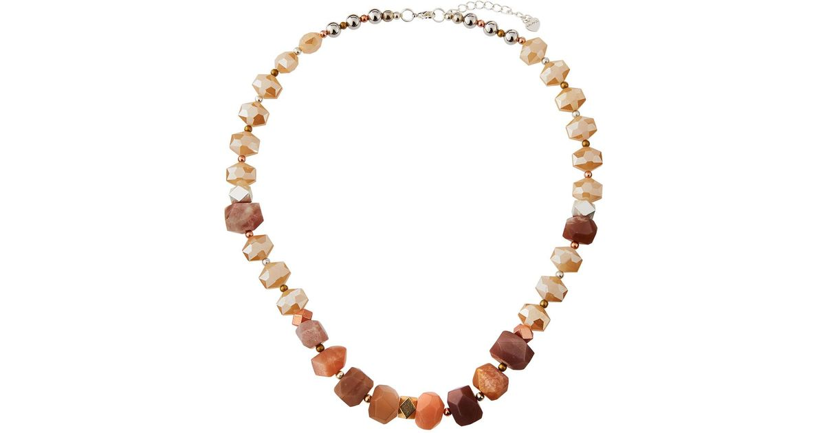 Nakamol Chunky Stone & Crystal Necklace Fwr87rPQ1o