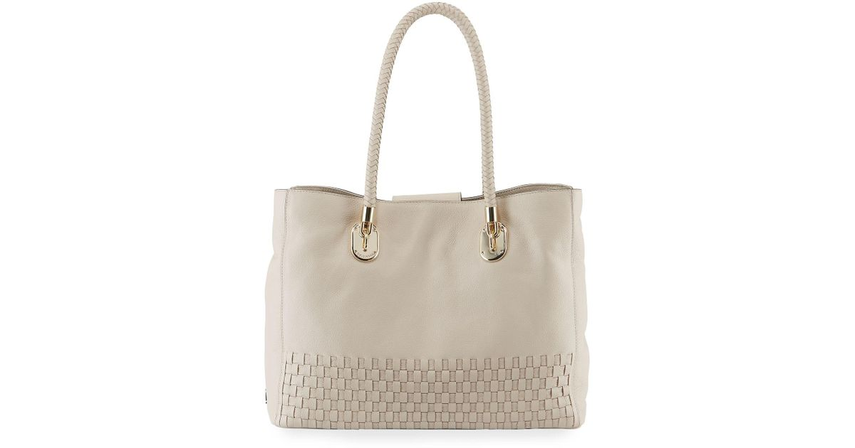 74ed0775944 Lyst - Cole Haan Benson Large Woven Tote Bag