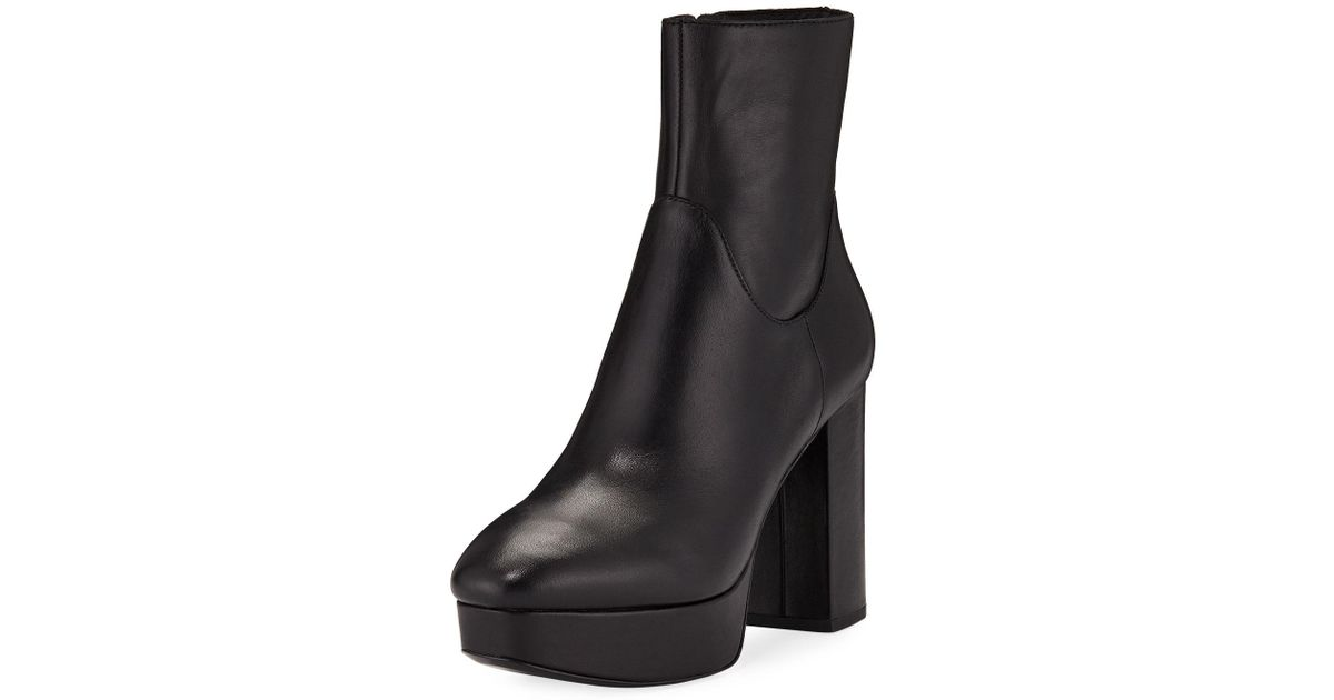 26bb646a11a3 Lyst - Ash Amazon Leather Platform Booties in Black