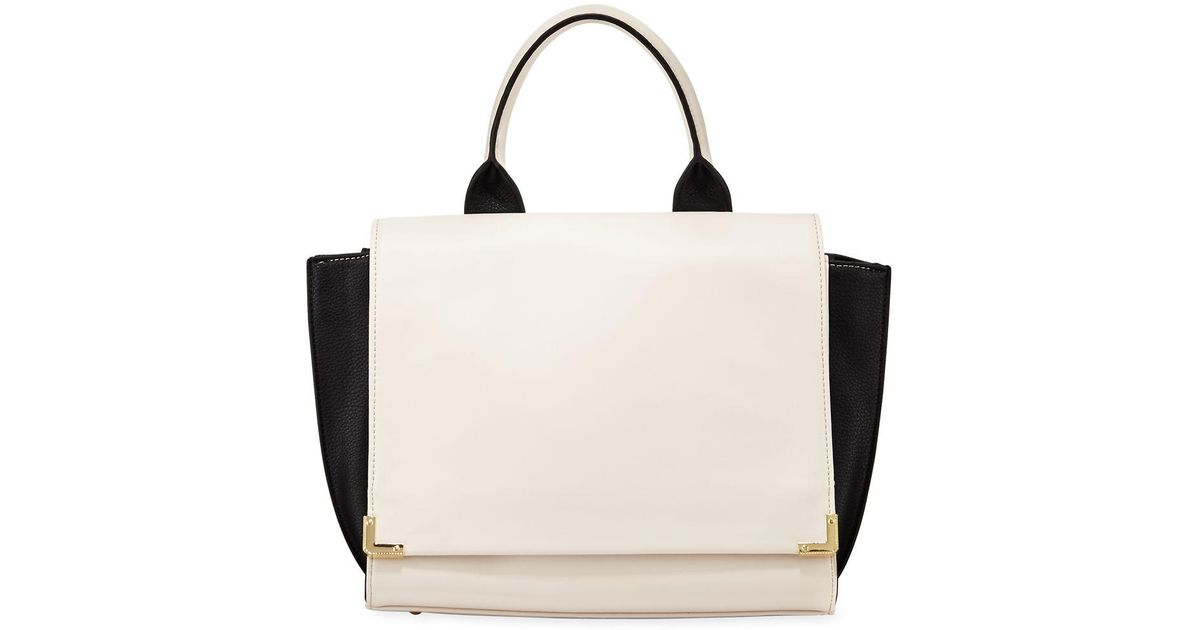 e0d0761b3d9 Lyst neiman marcus winged colorblock fold over satchel bag in black jpeg  1200x630 Colorblock flapover