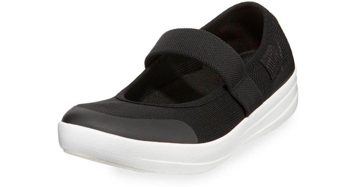 94856ecf2bb468 Lyst - Fitflop Uberknit Mary Jane Sneakers in Black