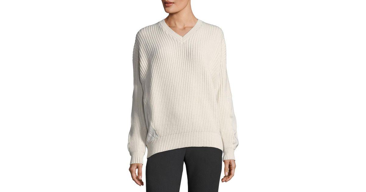 Brunello cucinelli Cashmere Tunic Sweater in White | Lyst