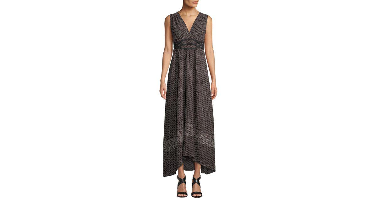 a7d851988f1 Lyst - Max Studio V-neck Sleeveless Geometric-print Maxi Dress