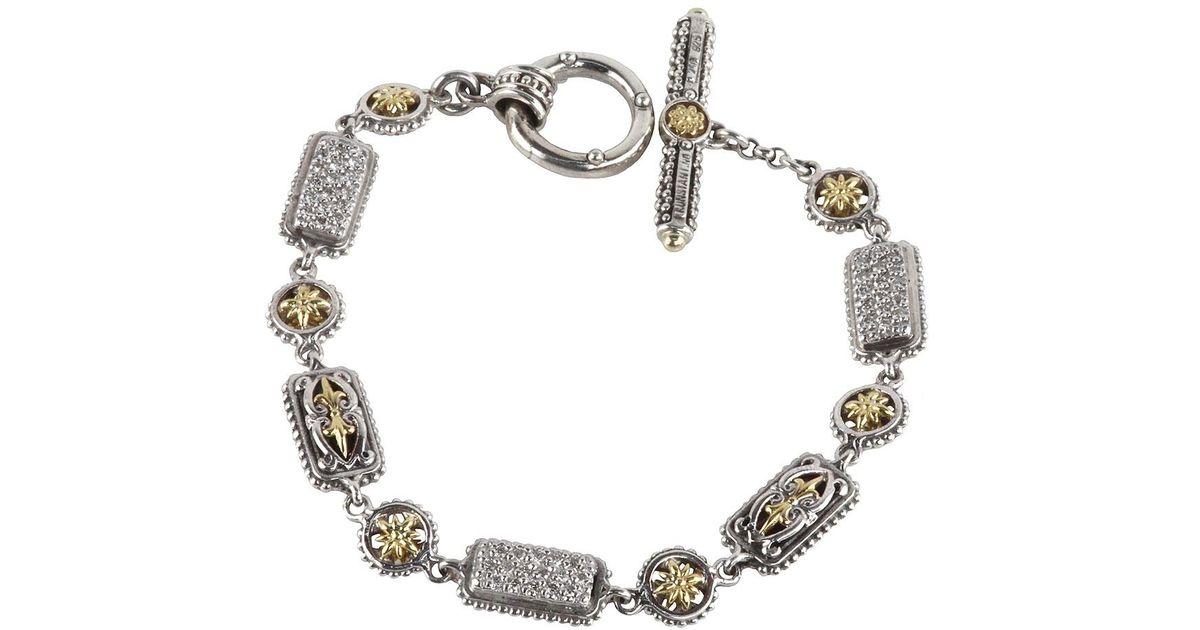 Konstantino Asteri Pave White Diamond Link Bracelet KLMbPv0n