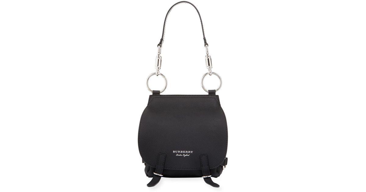 64dba582d39 Lyst - Burberry Deerskin Leather Bridle Crossbody Bag in Black