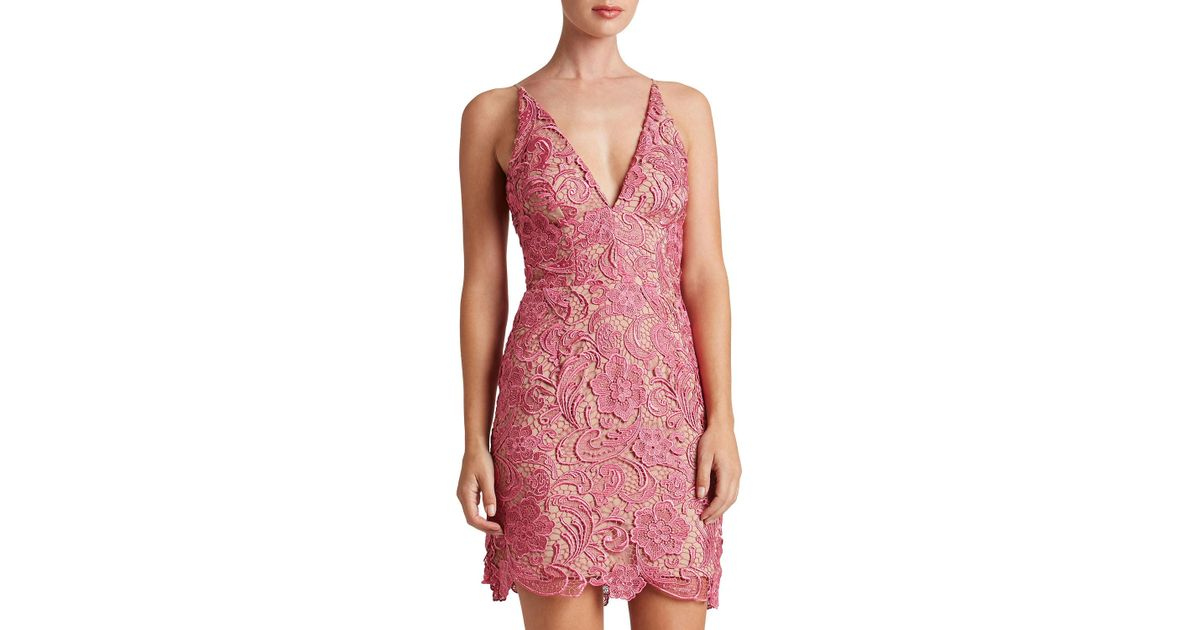 2a5f84c21e85 Dress the Population Allie Crocheted Lace Cocktail Dress - Lyst