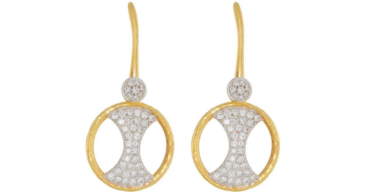 Gurhan Tuxedo Diamond Pavé Hoop Drop Earrings U325V