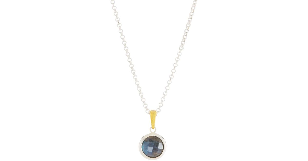 Gurhan Galapagos Round Single Stone Pendant Necklace in Amethyst LDuLue