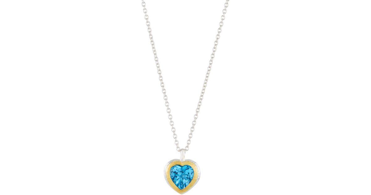 Gurhan Romance Swiss Blue Topaz Heart Earrings DiJC8