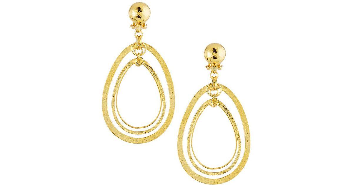 Jose & Maria Barrera Hammered & Polished Drop Earrings dlzKpt