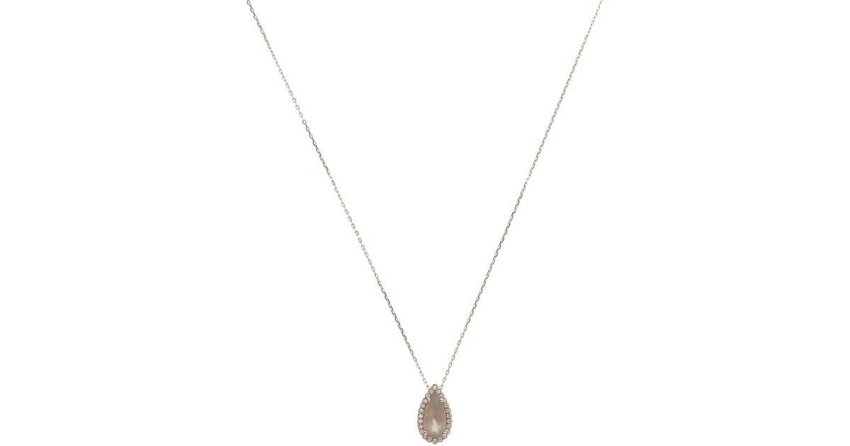 Lyst suzanne kalan rose gold grey moonstone and white diamond lyst suzanne kalan rose gold grey moonstone and white diamond pendant necklace in metallic mozeypictures Gallery