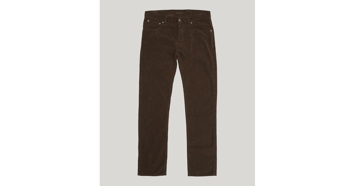 f681d18a Nudie Jeans Grim Tim Velvet Trousers in Brown for Men - Lyst