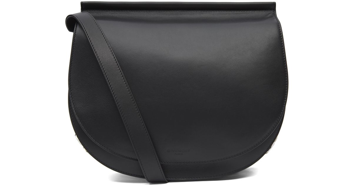 f4ce600e4e Lyst - Givenchy Infinity Chain Saddle Bag in Black