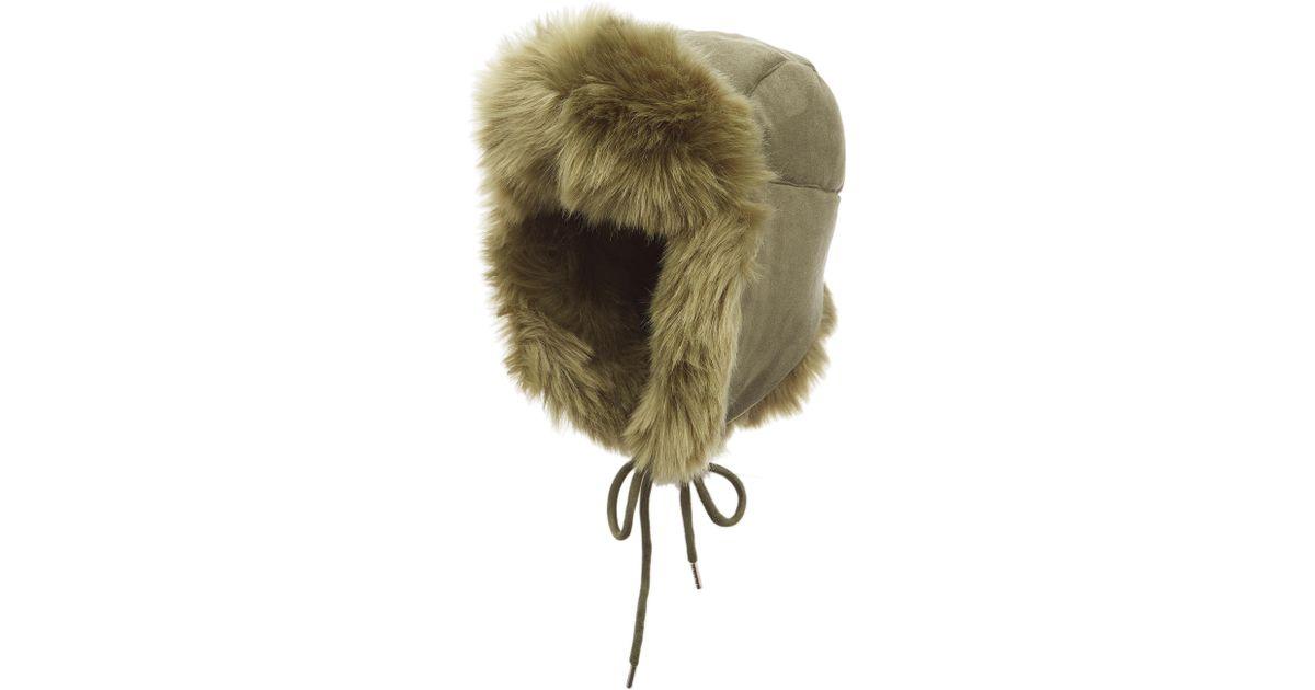 607fec3b458 Lyst - Charlotte Simone Fashion Helmet Trapper Hat W  Faux Fur Lining in  Green - Save 53%