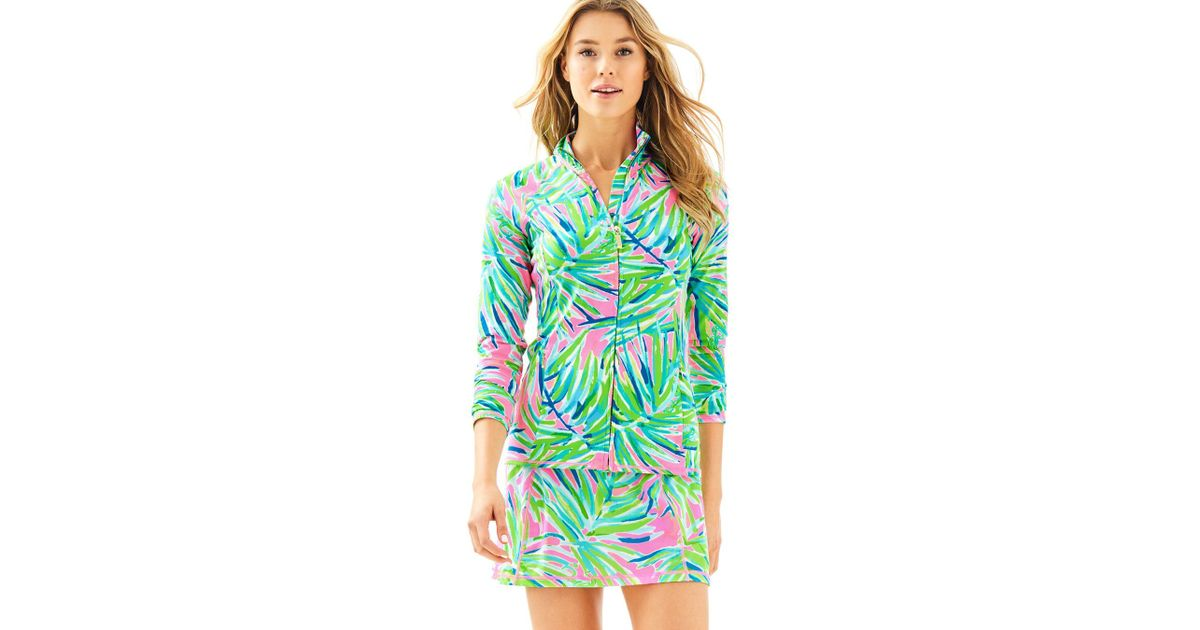 e1592595b70e67 Lilly Pulitzer Luxletic Serena Jacket in Green - Lyst