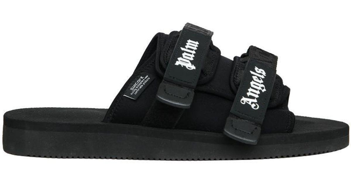 f27015e44b86 Lyst - Palm Angels Suicoke Moto Slides in Black